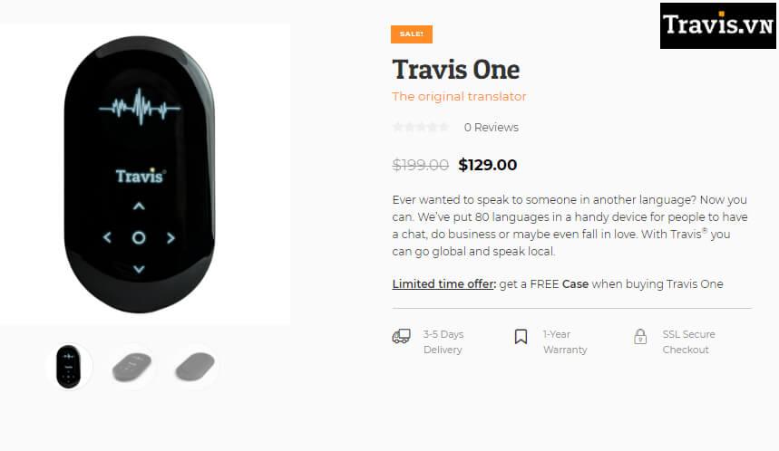 Travis đã tắt tính năng đặt hàng Travis One trên Website ở Hà Lan